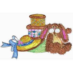 Hatboxes embroidery design