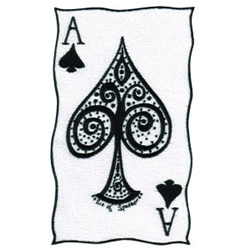 Ace of Spades embroidery design