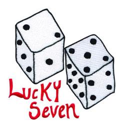 Lucky Seven embroidery design