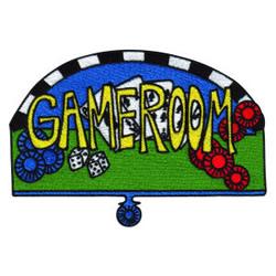 Gameroom embroidery design
