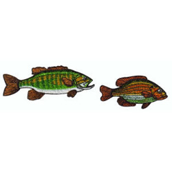 Two Fish embroidery design