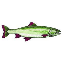Fish embroidery design
