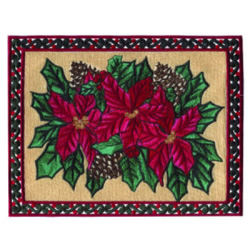 Poinsettia Decor embroidery design