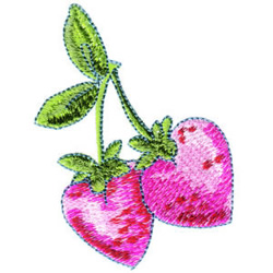 Cherry Hearts embroidery design
