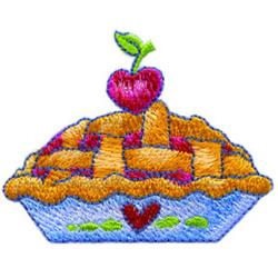 Pie embroidery design