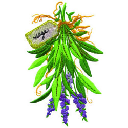 Sage embroidery design