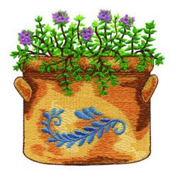 Flower Pot embroidery design