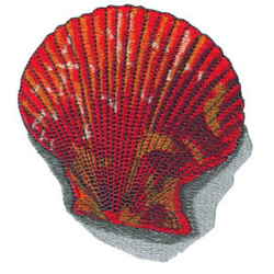 Clam Shell embroidery design