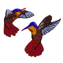 Hummingbirds embroidery design