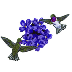 Hummingbirds and Flower embroidery design