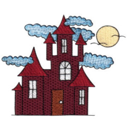 Haunted Castle embroidery design