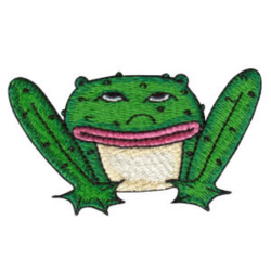 Grumpy Toad embroidery design