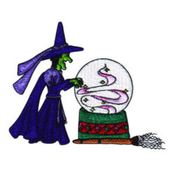 Wicked Witch embroidery design