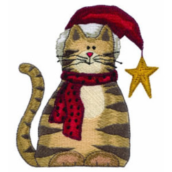 Holiday Cat embroidery design