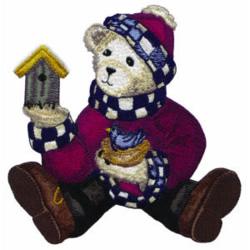 Teddy Bear Birdhouse embroidery design