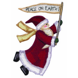 Flying Santa embroidery design