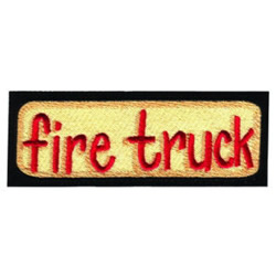 Fire Truck Sign embroidery design