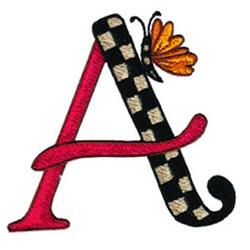 Loris Alphabet A embroidery design