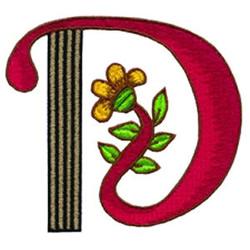 Loris Alphabet D embroidery design