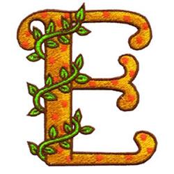 Loris Alphabet E embroidery design