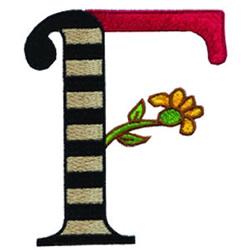 Loris Alphabet F embroidery design