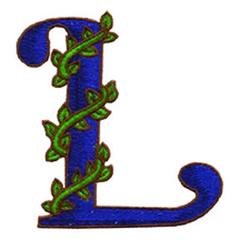 Loris Alphabet L embroidery design