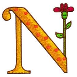 Loris Alphabet N embroidery design