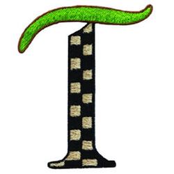 Loris Alphabet T embroidery design