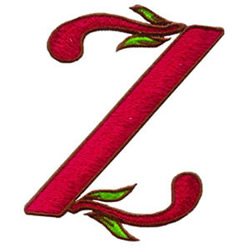 Loris Alphabet Z embroidery design