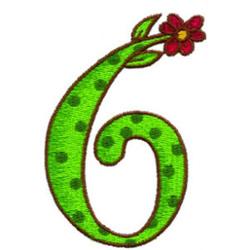 Loris Alphabet 6 embroidery design