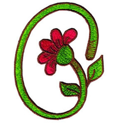 Loris Flower embroidery design