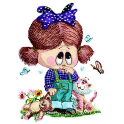 Little Miss and Friends embroidery design