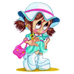 Little Miss Shopping embroidery design