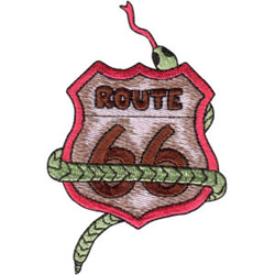 Route 66 Sign embroidery design