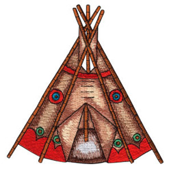 Indian Teepee embroidery design