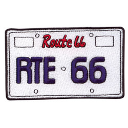 Route 66 License Plate embroidery design