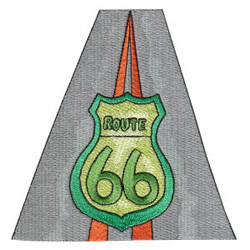 Route 66 embroidery design