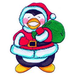 Santa Penguin embroidery design