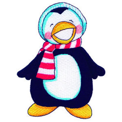Penguin embroidery design