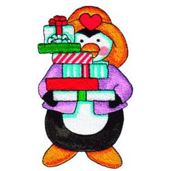 Penguin Presents embroidery design