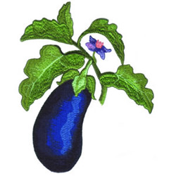 Eggplant embroidery design