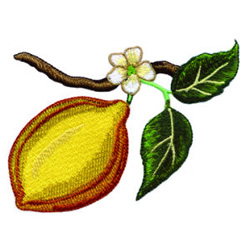 Lemon embroidery design