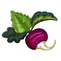 Turnip embroidery design