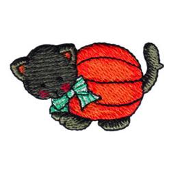 Pumpkin Patch Cat embroidery design