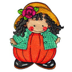 Pumpkin Patch Kid 13 embroidery design