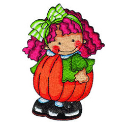 Pumpkin Patch Kid 14 embroidery design
