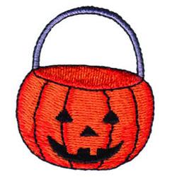 Pumpkin Bucket embroidery design