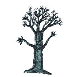 Spooky Tree embroidery design