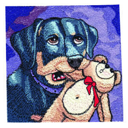 Puppy and Friend embroidery design