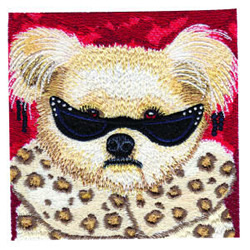 Glamor Pup embroidery design